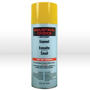 Picture of 1644830 Rust-Oleum CHOICE Spray Paint,IC SSPR,Low voc16 oz,Net Weight 12 oz,Safety Yellow