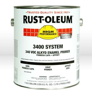 Picture of 3482402 Rust-Oleum 3400 Enamel Paint,1 gallon,Silver Gray,Dry Time 6-8 hrs