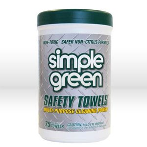 Picture of 13351 Simple Green Towels Hand Cleaning Wipes,Multi-purpose cleaner towels,75 count canister