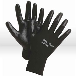 Picture of WE110-XL Sperian WorkEasy Nitrile Glove,Lightweight black polyester shell