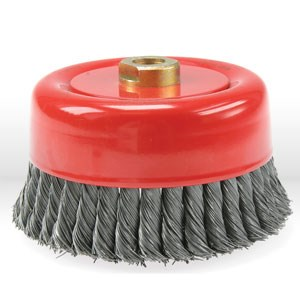 "Picture of 56052 Jaz USA Twist Knot Wire Cup Brush,6"" Twist knot wire cup brush,Wire.020"""