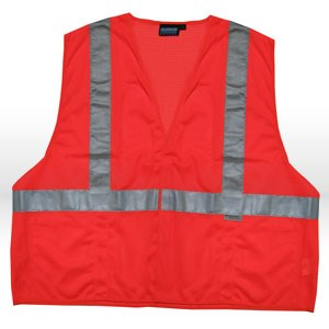 Picture of 14519 ERB Safety Vest,Reflective,ANSI Class 2,L,Orange