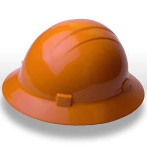 Picture of 19223 ERB Safety Americana Ratchet Safety Helmets,Hard hat,Standard full brim,Polyethylene,Orange