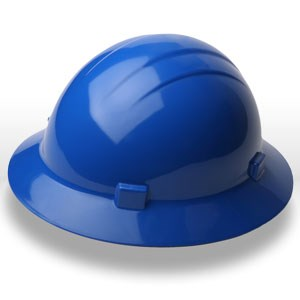 Picture of 19226 ERB Safety Americana Ratchet Safety Helmets,Hard hat,Standard full brim,Polyethylene,Blue