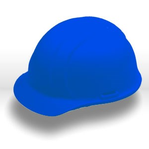 Picture of 19366 ERB Safety Americana Safety Helmets,Hard hat,Slotted,standard,Polyethylene,Blue