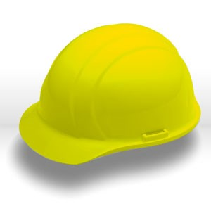 Picture of 19762 ERB Safety Americana Safety Helmets,Slotted,standard,Polyethylene,Yellow