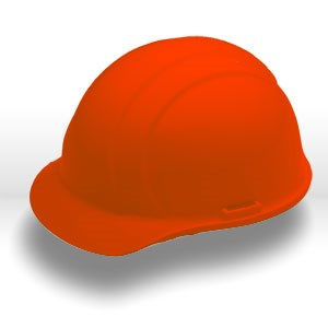 Picture of 19763 ERB Safety Americana Safety Helmets,Slotted,standard,Polyethylene,Orange