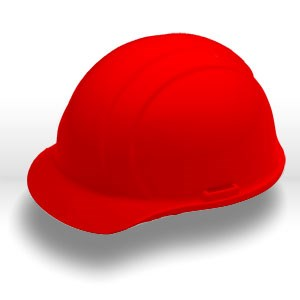 Picture of 19764 ERB Safety Americana Safety Helmets,Slotted,standard,Polyethylene,Red