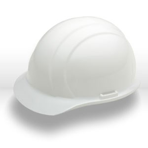 Picture of 19821 ERB Safety Helmets,Slotted,standard,Polyethylene,White