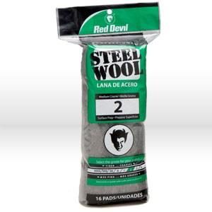Picture of 0315 Red Devil Steel Wool,Medium Coarse # 2 Steel Wool,16 Pack