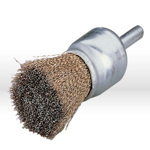 "Picture of 14310 Jaz USA Crimped Wire End Brush,1"",.020"",Steel,1/4"" Shank"