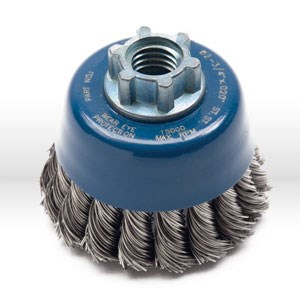 "Picture of 72082 Jaz USA Twist Knot Wire Cup Brush,2-3/4"",.020"",Steel,Bulk"