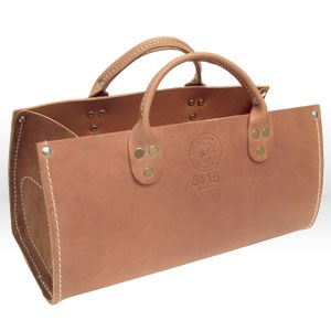 "Picture of 5115 Tool Bag,Leather Tote,15"" WIDTH,6-1/2 INCH THICKNESS,7"" HEIGHT,LEATHER MATERIAL"
