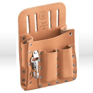 "Picture of 5126 Tool Holder,Leather,5-Pocket,KNIFE,PLIER,SCREWDRIVER,6"" WIDTH,8-1/2"" HEIGHT,1-3/4"" BELT"