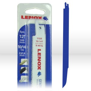 Picture of 20583 Lenox Reciprocating Saw Blades,Shatter resistant bi-metal blades,L 12""