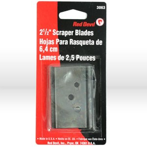 """Picture of 3063 Red Devil Scraper Blade,Replacement double edge,#3050,#3050WD,2-1/2"""""""