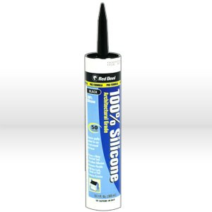 Picture of 0816/6I Red Devil Silicone Caulk/Sealant,10.1 fl oz (300 ml) cartridge,100% Silicone,Black