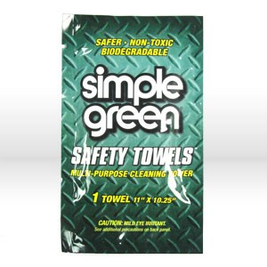 """Picture of 13352 Simple Green Towel SAMPLE,Cleaner Degreaser,Multi-purpose cleaner towels,11"""" x10-1/4"""""""