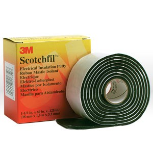 "Picture of 54007-41750 3M Putty,Scotchfil electrical Insulation putty,1-1/2""x60"" (38mm x 1.53 m) 125 mil2"