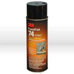 Picture of 21200-50045 3M Spray Adhesive,FoamFast 74 spray adhesive,Clear,24 oz