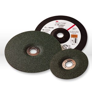 "Picture of 51111-51160 3M Grinding Wheel,Green Corps flexible grinding wheel,60 Grit,4-1/2""x1/8""x5/8-11"