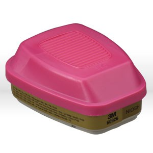 Picture of 51138-54187 3M Respirator Filter,Cartridge/filter,P100,60926,Multi-gas/Vapor,Olive/Magenta