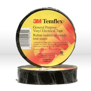 "Picture of 54007-69764 3M Electrical Tape,Temflex economy grade vinyl electrical tape 1700,3/4""x60ft"