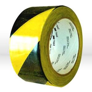"""Picture of 21200-43181 3M Hazard Tape,Hazard warning tape,766,Black/Yellow,2""""x 36yds,Gauge 5.0 mil"""