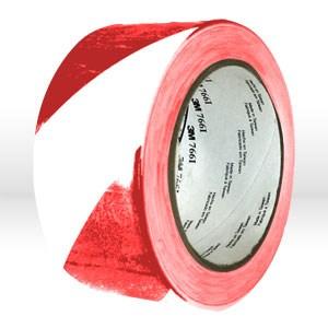 "Picture of 21200-43186 3M Hazard Tape,Hazard warning tape,767,Red/white,2""x36y,Gauge 5.0 mil"