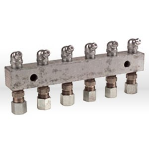 Picture of 6136 Alemite Grease Fitting Header Block,Fitting Header 6 Position,6 point,L 5-3/4""