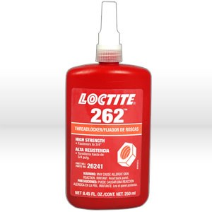 Picture of 26241 Loctite Thread Sealant,# 262 thread locker,Medium to high strength,250 ml bottle 8.45 oz
