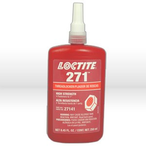 Picture of 27141 Loctite Thread Sealant,# 271 thread locker,High strength,250 ml bottle 8.45 fl oz