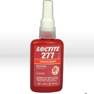 Picture of 27731 Loctite Thread Sealant,# 277 thread locker,High strength,50 ml bottle 1.69 oz