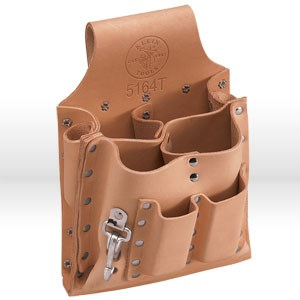 Picture of 5164T Klein Tools Tool Pouch,8-pockets with knife snap & tunnel loop,Leather