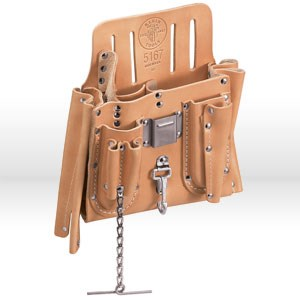 Picture of 5167 Klein Tools Tool Pouch,11-pockets with tape thong & knife snap,Leather