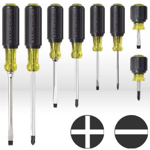 Picture of 85078 Klein Tools Screwdriver Set,Cushion-grip assortment,Size 8-pc