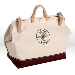 """Picture of 510216 Klein Tools Tool Bag,Canvas with vinyl,Size 16""""L x 6""""W x 14""""D"""