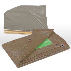 Picture of 11620 CSM Tarps Heavy Duty Contractor's Tarp,16x20,Brown/ Green