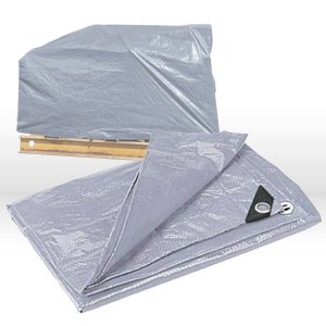 Picture of 21620 CSM Tarps Super Duty Tarp,Plastic Corner Sleeve,16x20,Silver