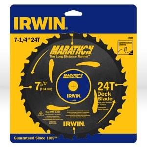 """Picture of 14130 Irwin Circular Saw Blade,7-1/4""""x24T deck blade,Universal"""