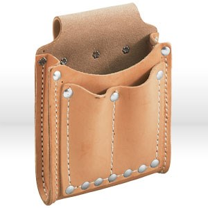 Picture of 5145 Klein Tools Tool Pouch,3 pockets & tunnel loop,Leather