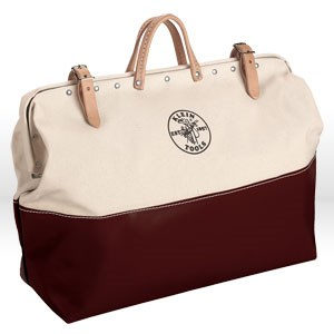 "Picture of 510524 Klein Tools Tool Bag,Canvas with vinyl,Size 24""L x 6""W x 15""D"
