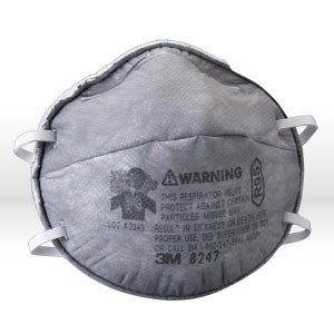 Picture of 51138-54358 3M R95 Particulate Respirator,8247,W/Nuisance Level Organic Vapor Relief