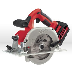 "Picture of 0730-22 Milwaukee V28 6-1/2"" CIRCULAR SAW W/2-28V Batteries"