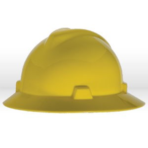 Picture of 454730 MSA Safety Hat,V-Gard W/Staz-On suspension,Yellow