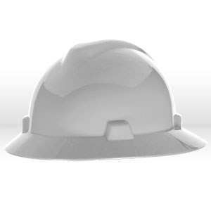 Picture of 454733 MSA Safety Hat,V-Gard W/Staz-On Suspension,White