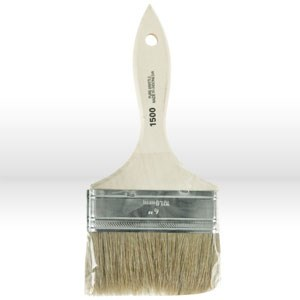 Picture of 1601-4 Starlee Imports White Chinese Wood Handle Chip Brush,Single Thick,4""