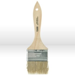 """Picture of 1602-2.5 Starlee Imports White Chinese Wood Handle Chip Brush,2-1/2"""""""