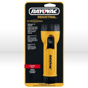 Picture of IN2-K Ray-o-Vac Flashlight,2D,Water Resistant,Yellow