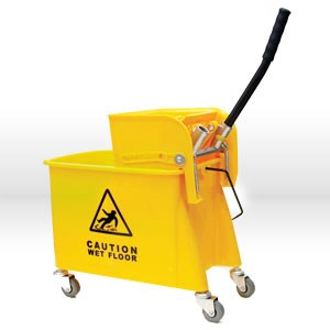 Picture of 24QSPW Alliance Bucket W/side press wringer,24 Qt,Yellow